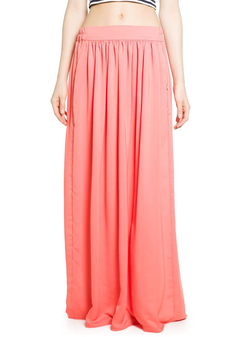 Flowy long skirt | MANGO