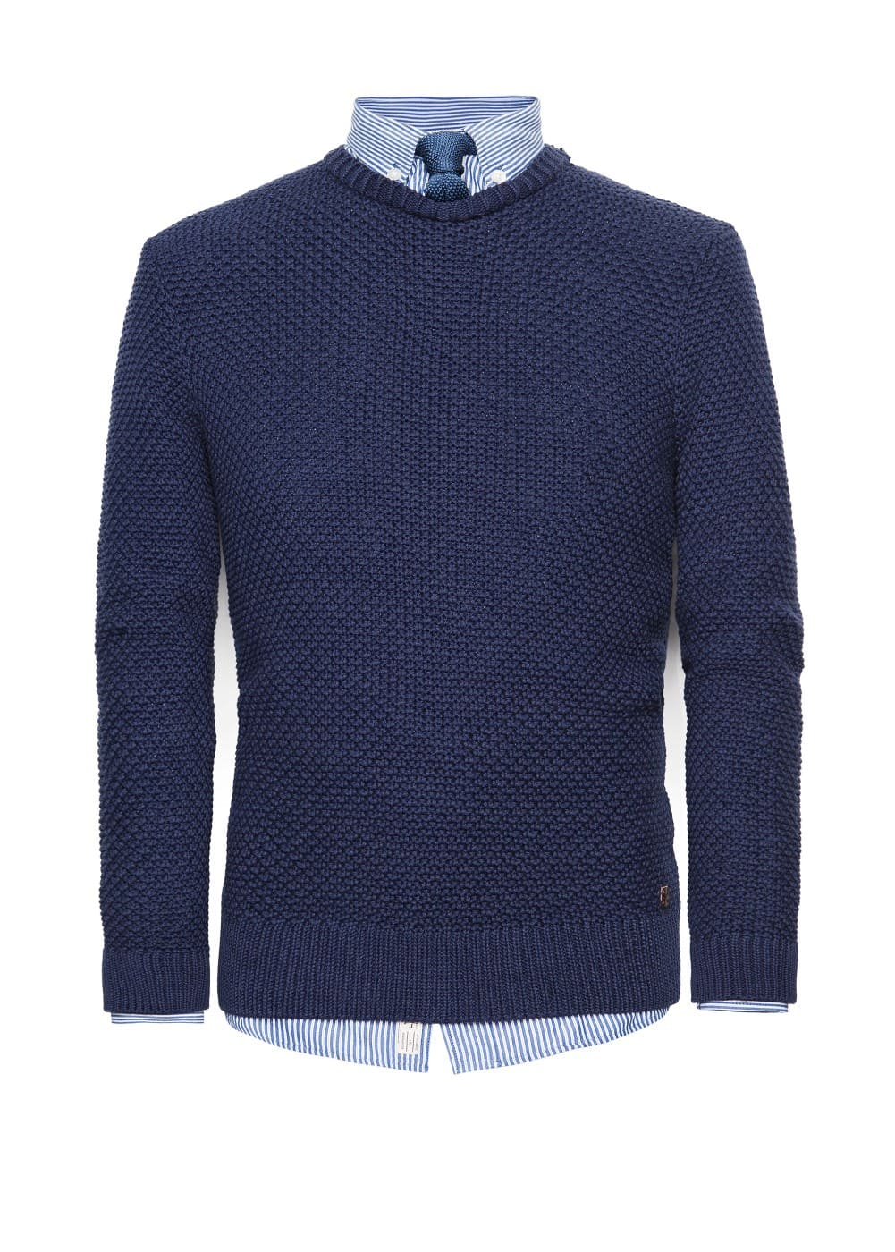 Textured knit cotton sweater | MANGO MAN