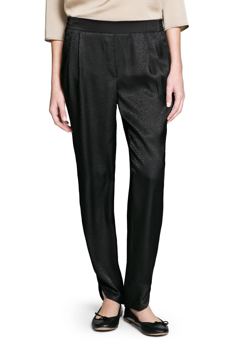 Animal texture baggy trousers | MANGO