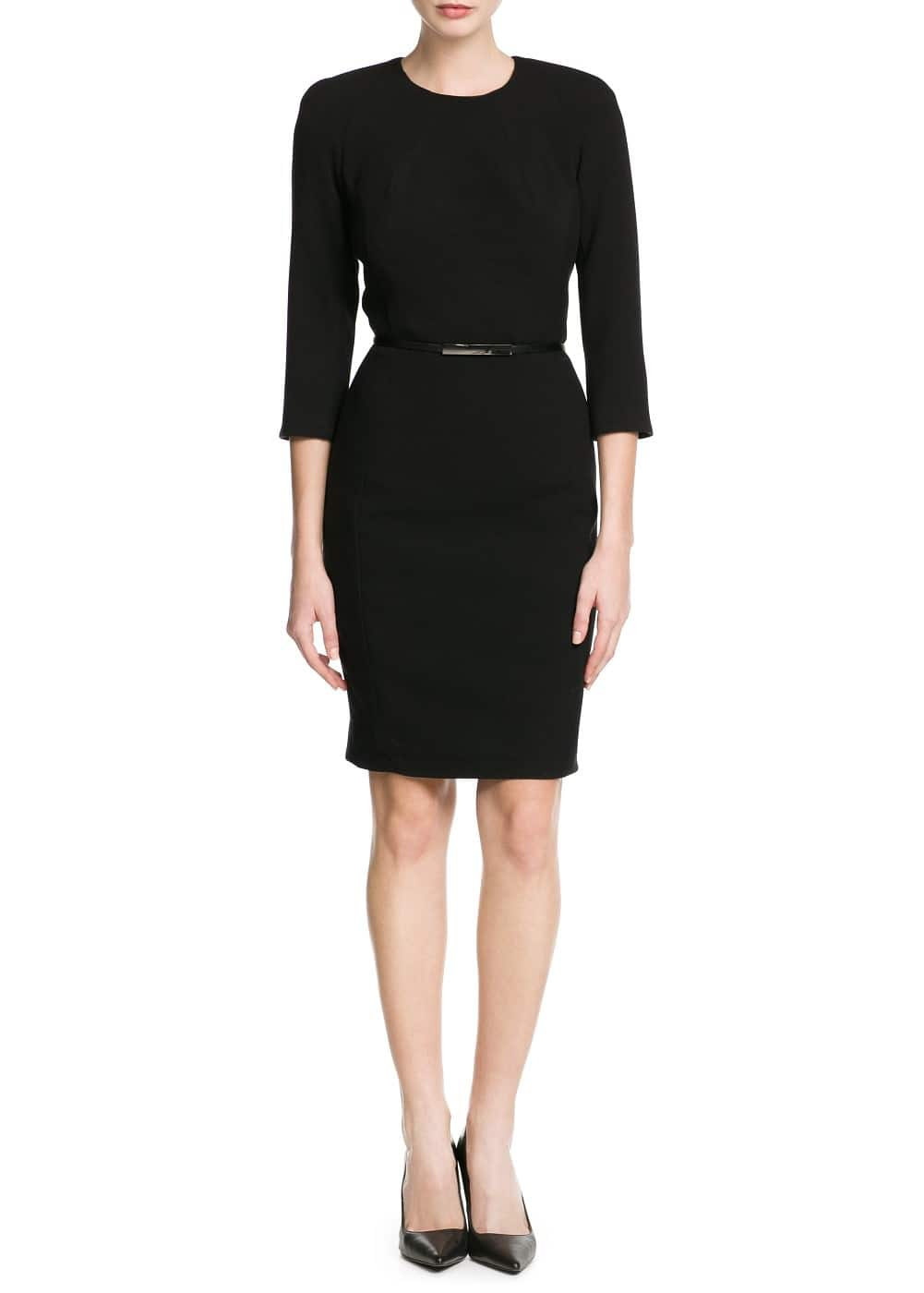 Cut-out pencil dress | MANGO MAN
