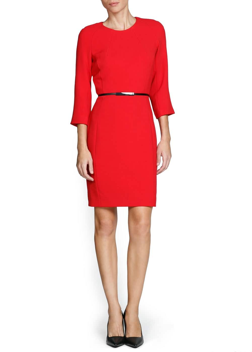 Cut-out pencil dress | MANGO