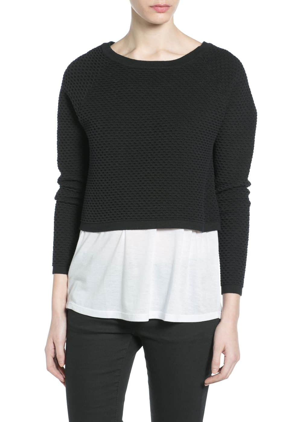 Textured cropped sweater | MANGO
