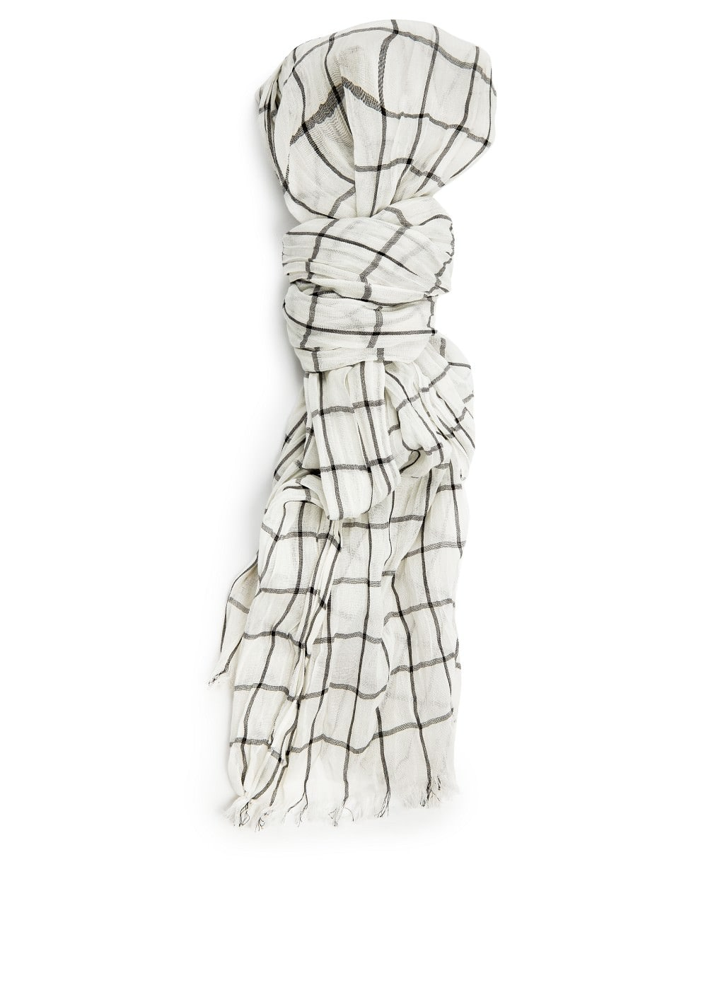 Check cotton scarf | MANGO
