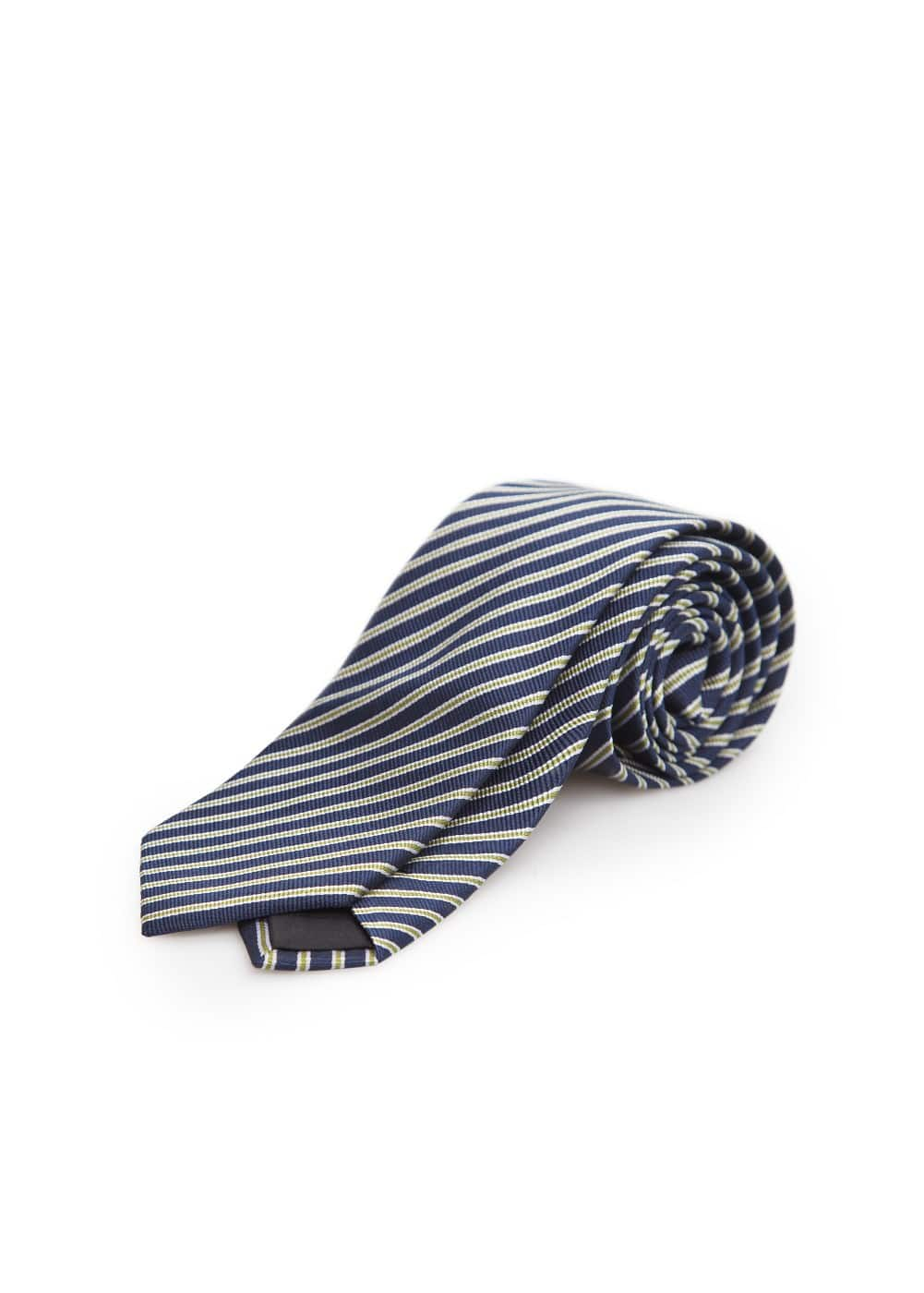Striped silk tie | MANGO