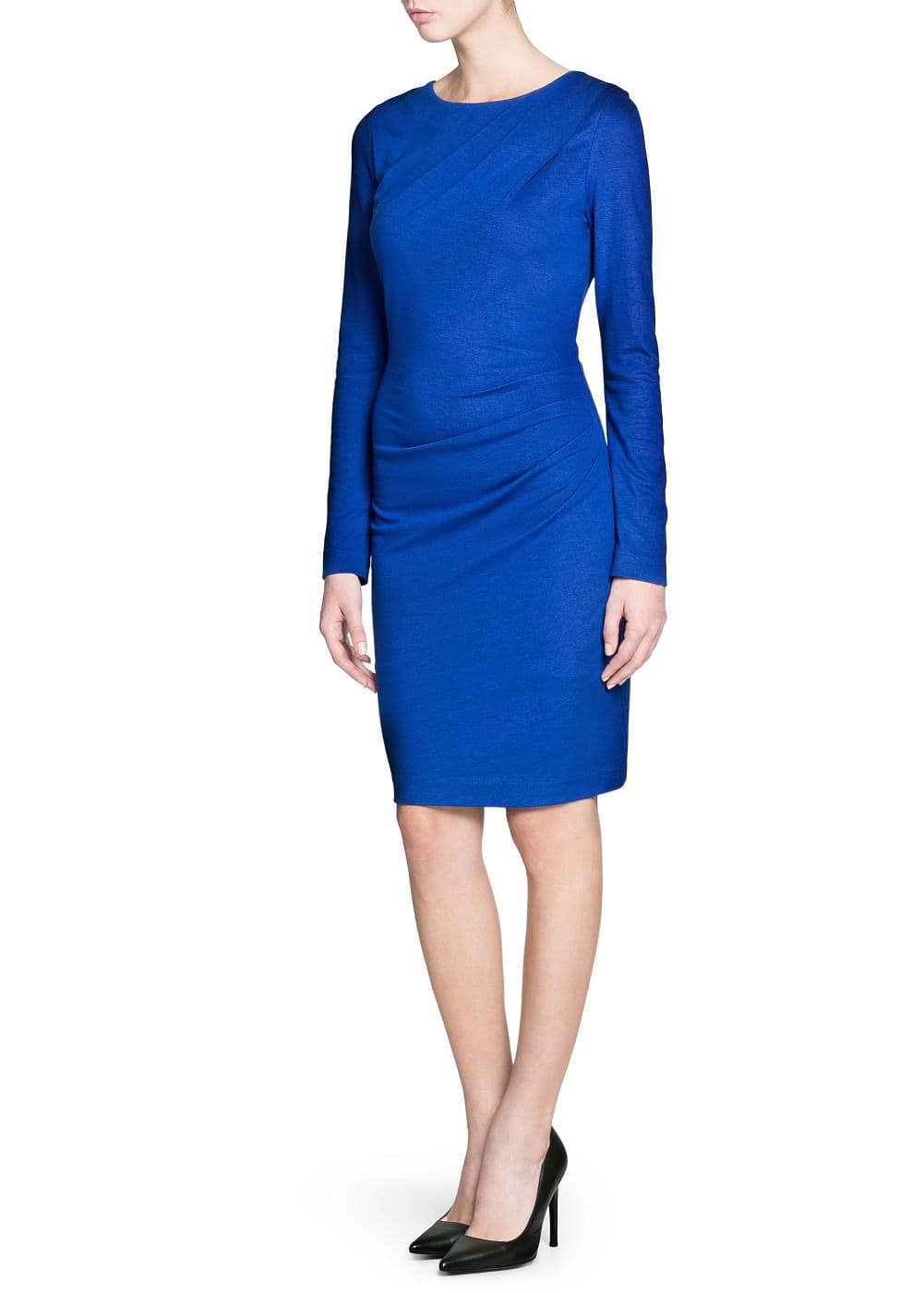 Draped side fitted dress | MNG