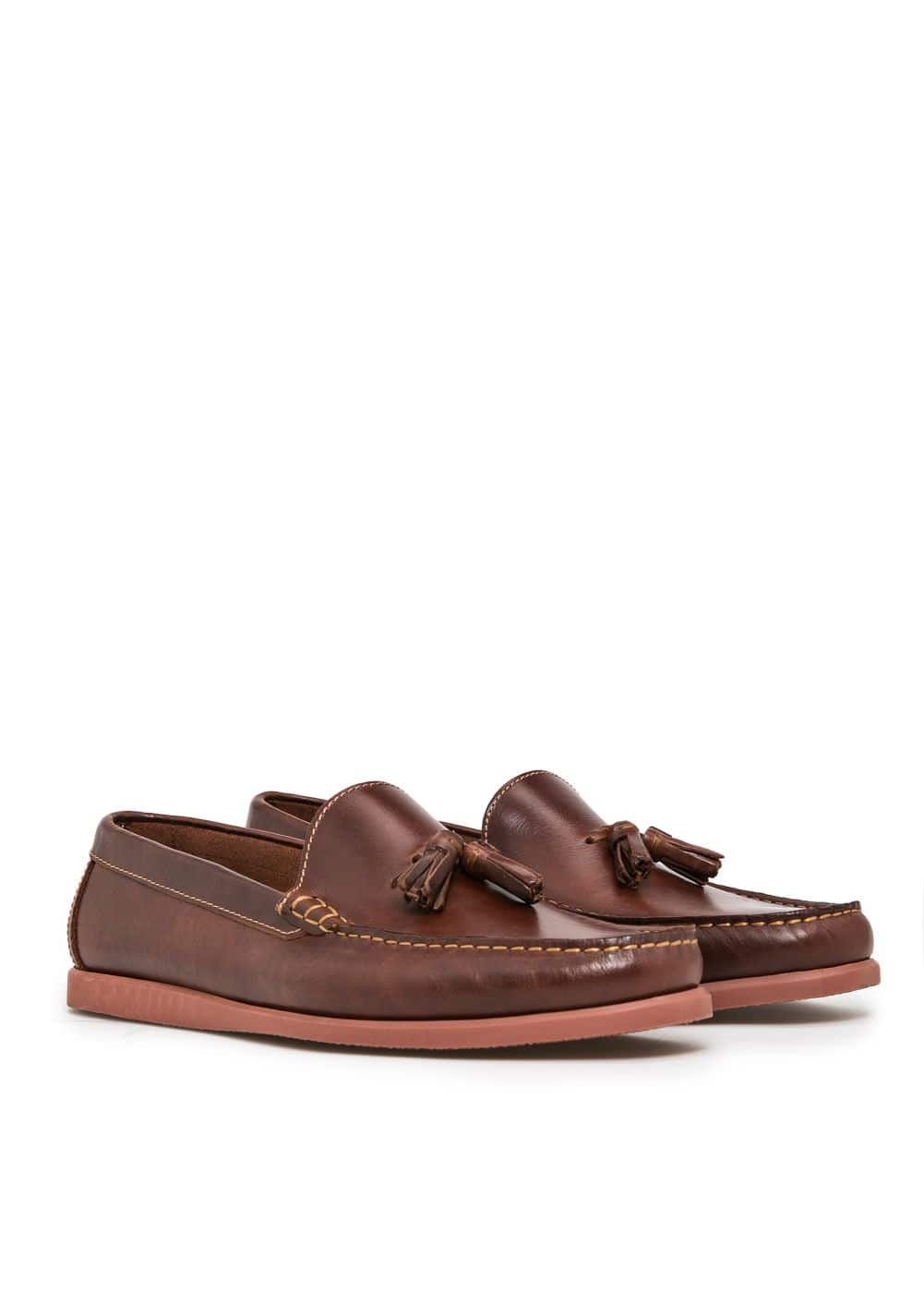 Tassel leather loafers | MANGO