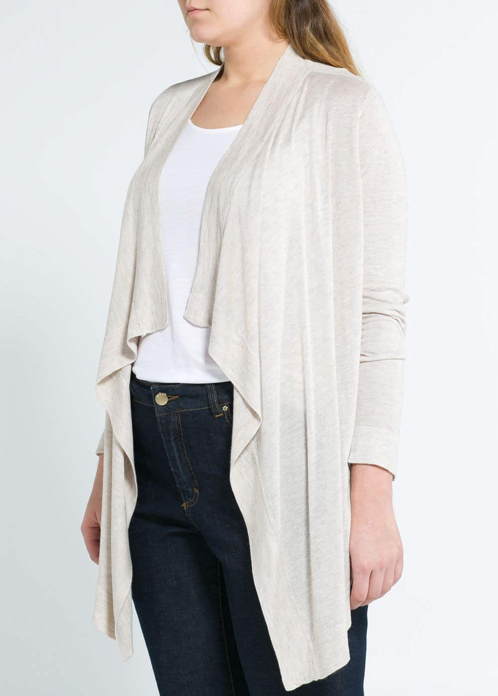 Flecked cardigan | MANGO
