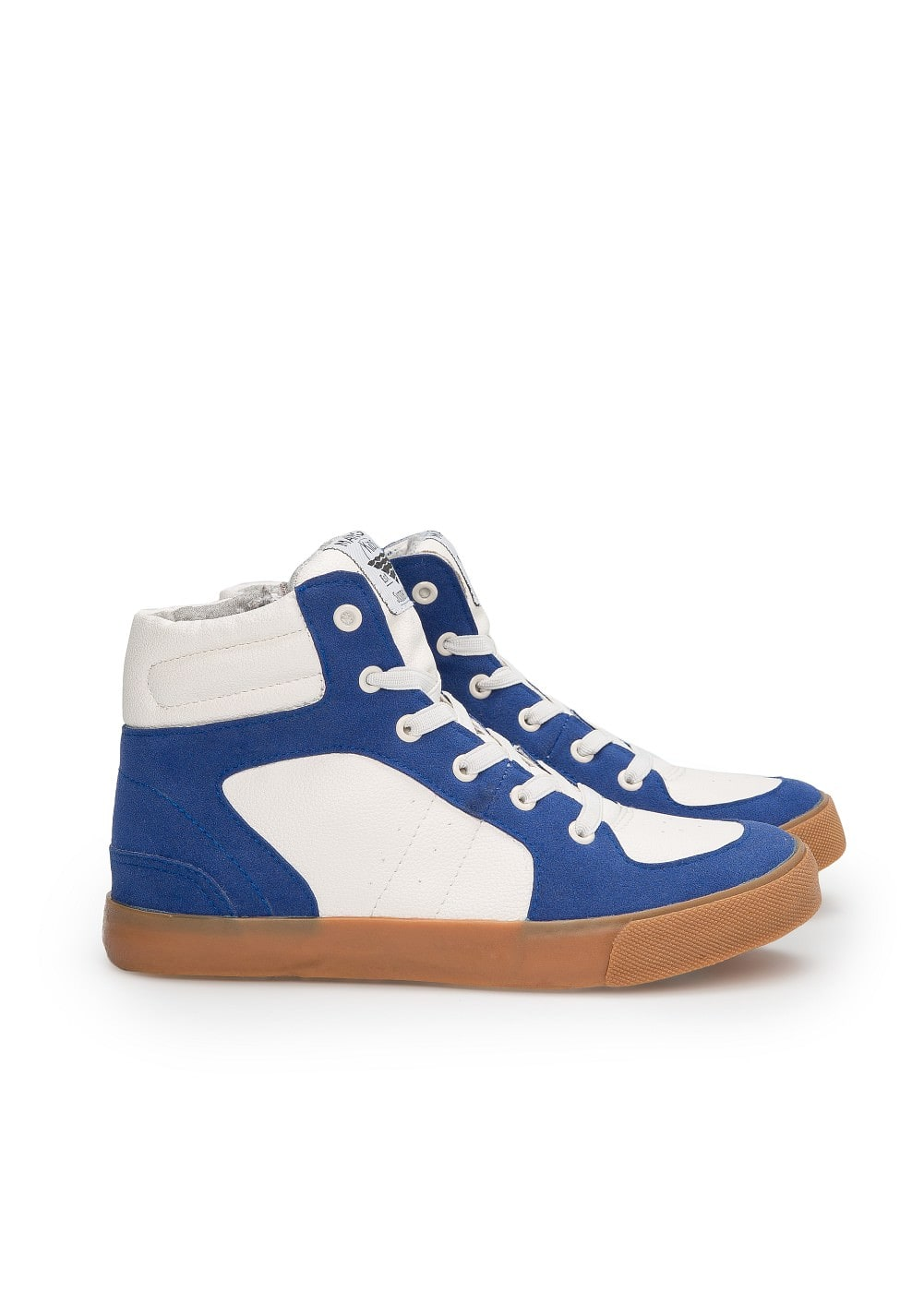 Bicolor high top sneakers | MANGO