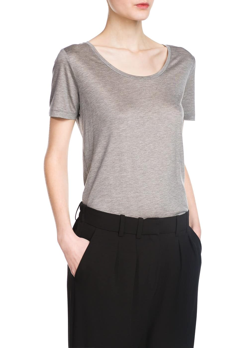 Soft fabric t-shirt | MANGO