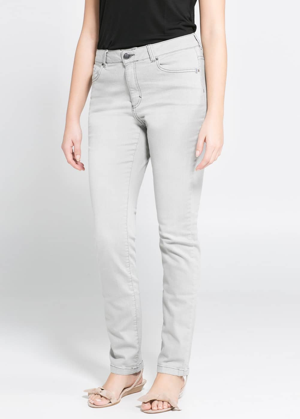 Slim-fit royal jeans | VIOLETA BY MANGO