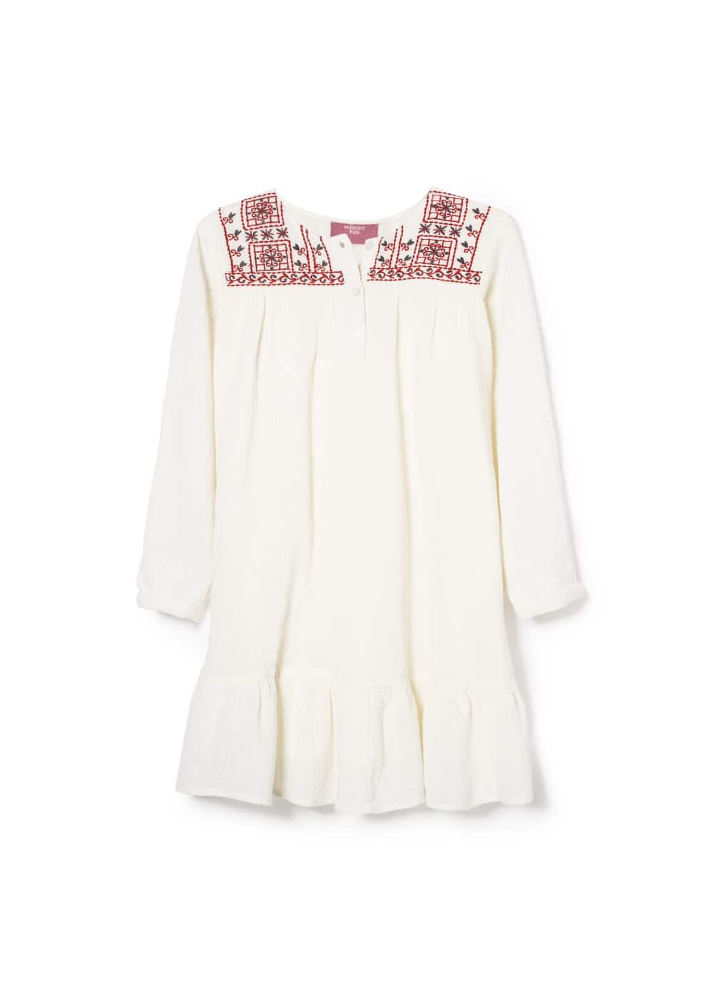 Ruffle embroidered dress | MANGO KIDS