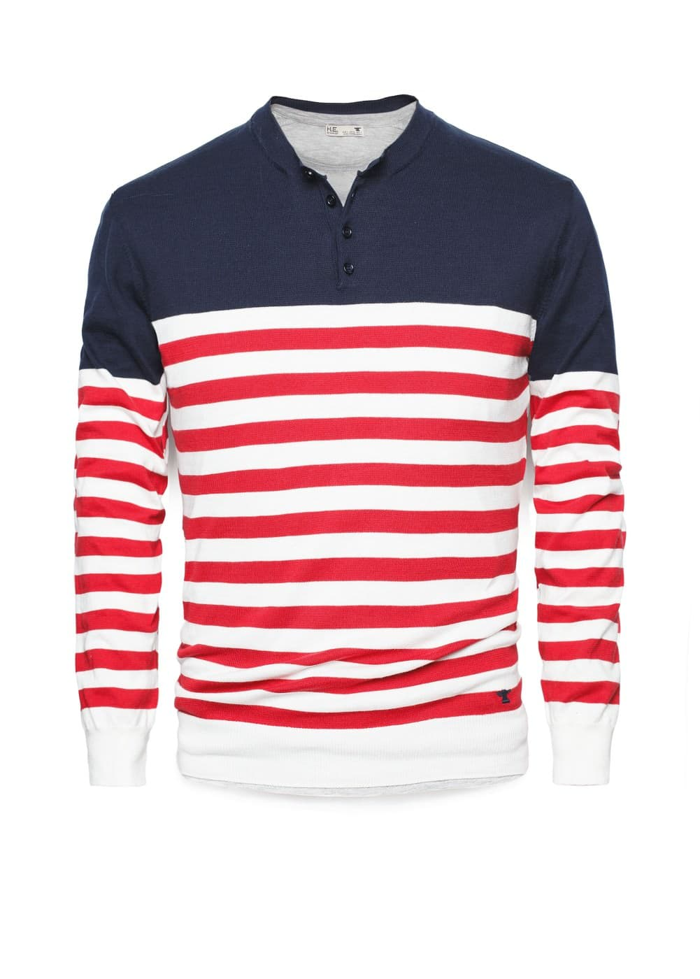 Striped henley sweater | MANGO