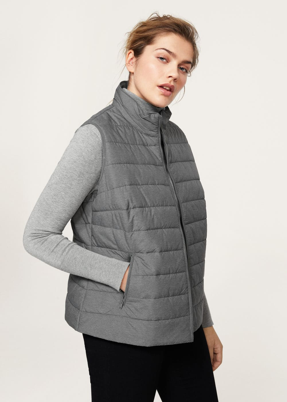 Quilted gilet | VIOLETA BY MANGO