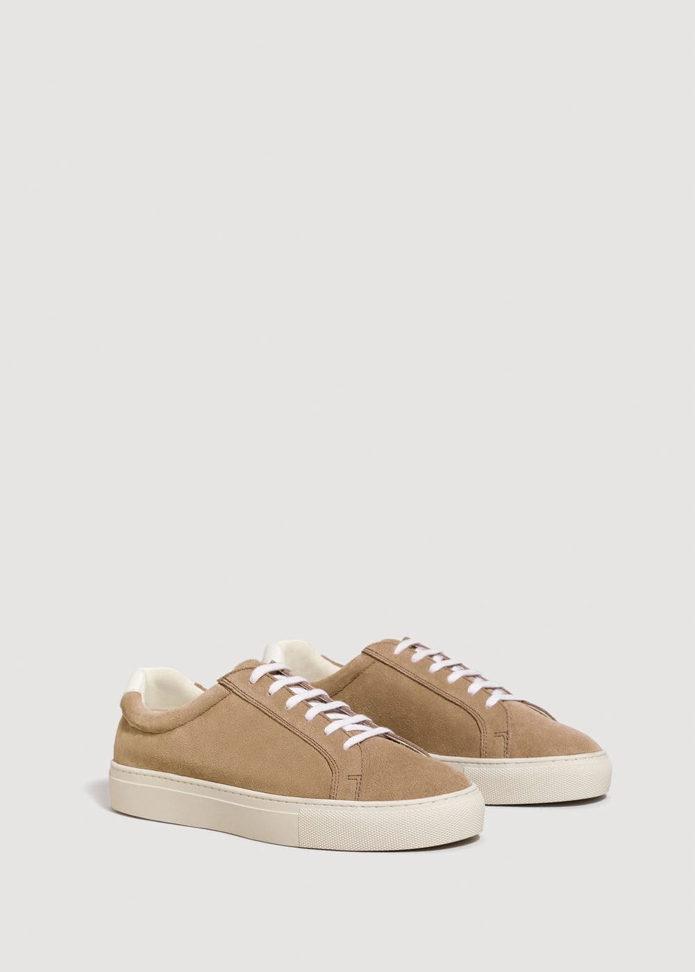 Lace-up suede sneakers | MANGO MAN