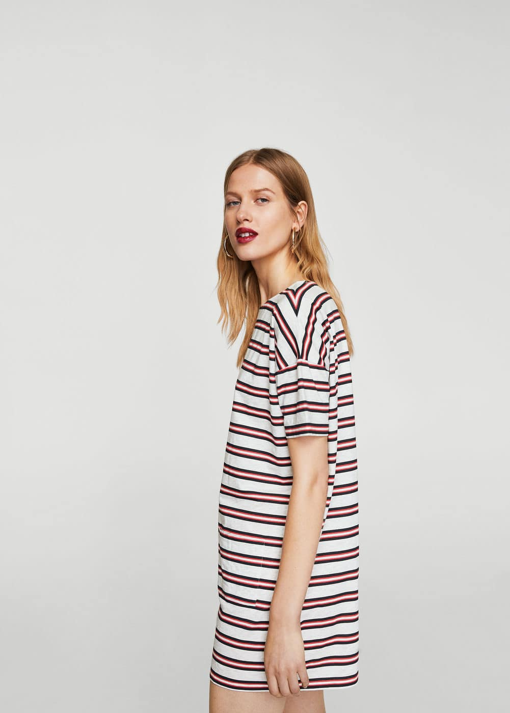 Striped shift dress | MANGO