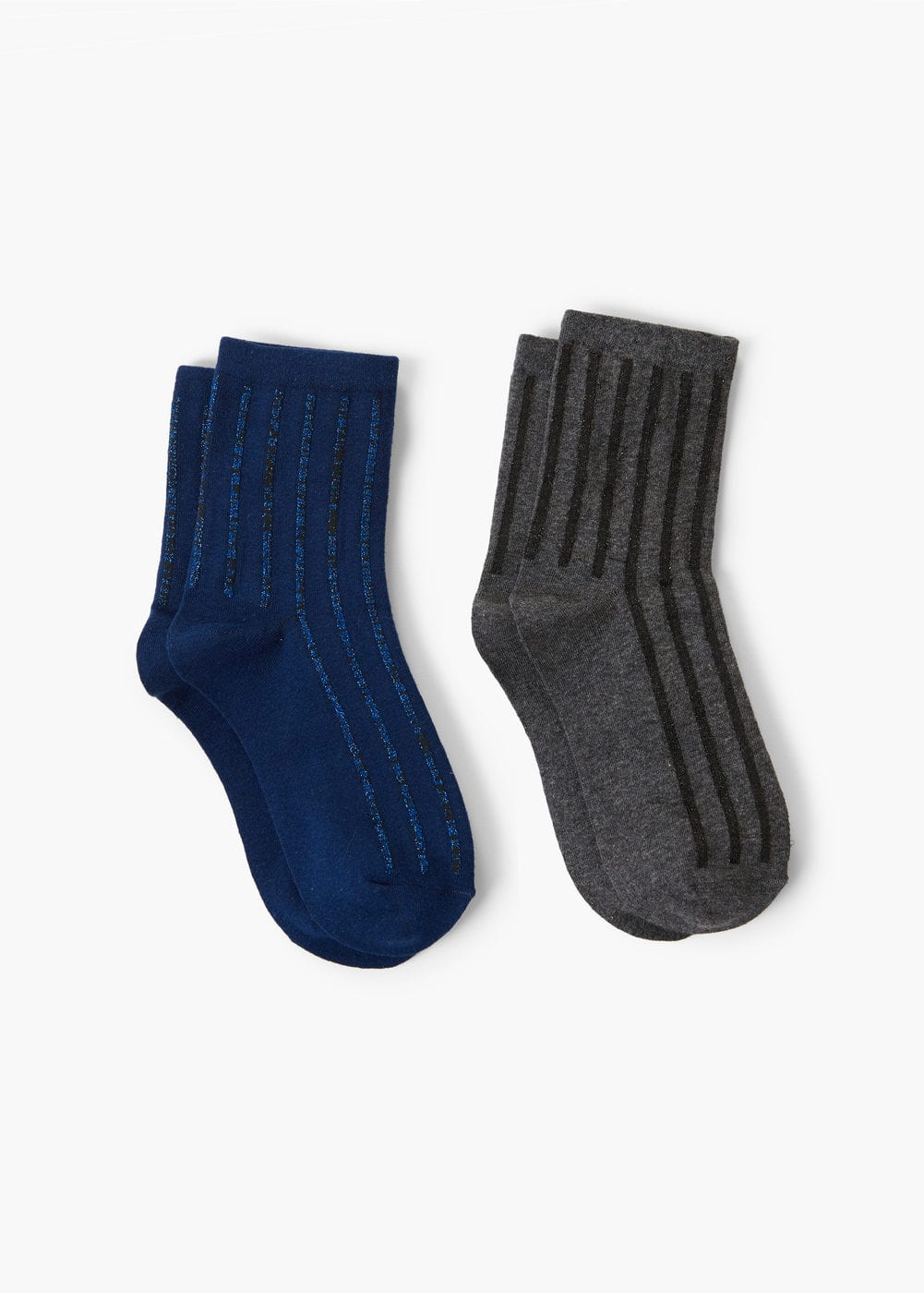 Pack 2 metallic socks | MANGO