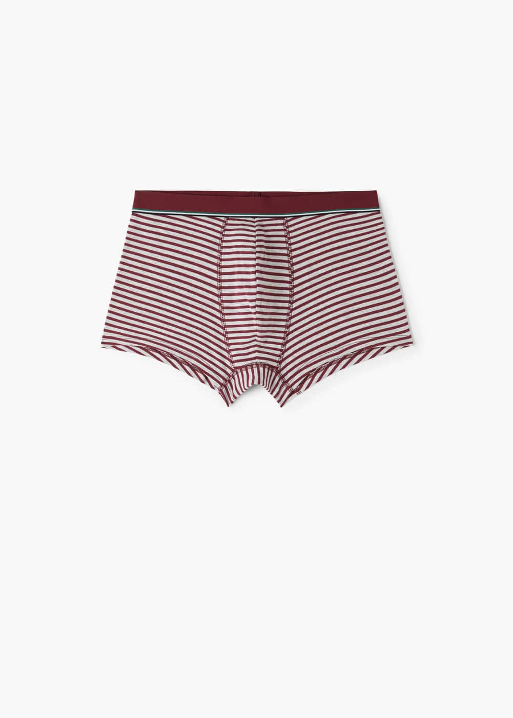 Striped cotton boxer shorts | MANGO MAN