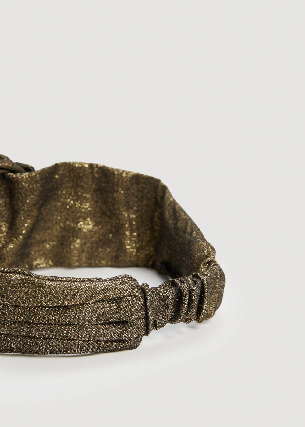 Metallic thread hairband | MANGO