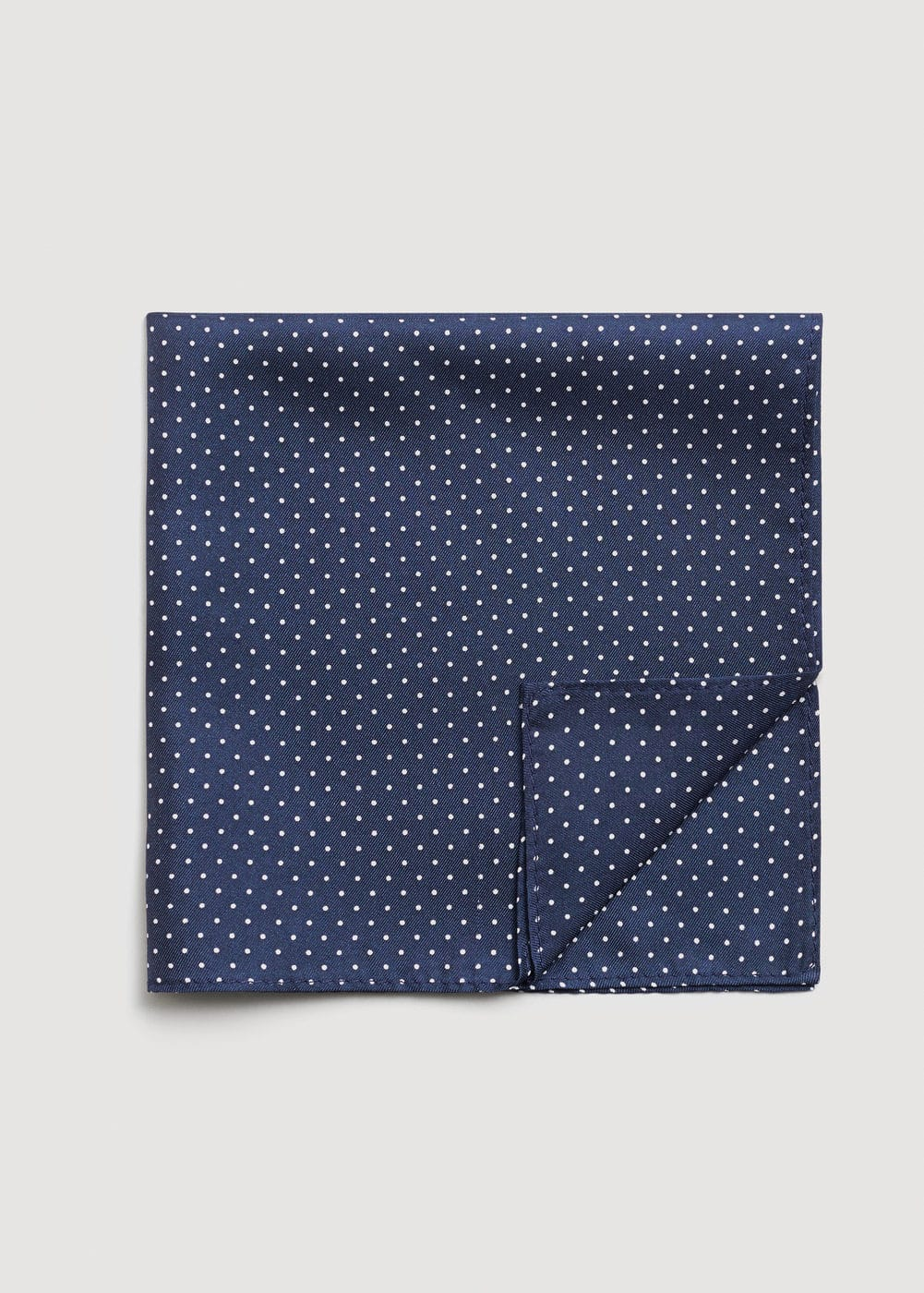 Polka-dot silk pocket square | MANGO