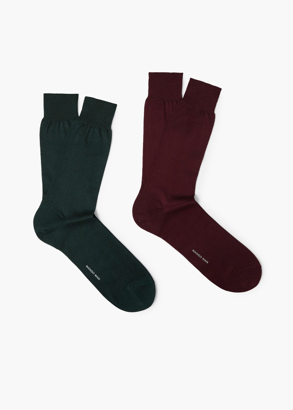 2 pack plain socks | MANGO MAN