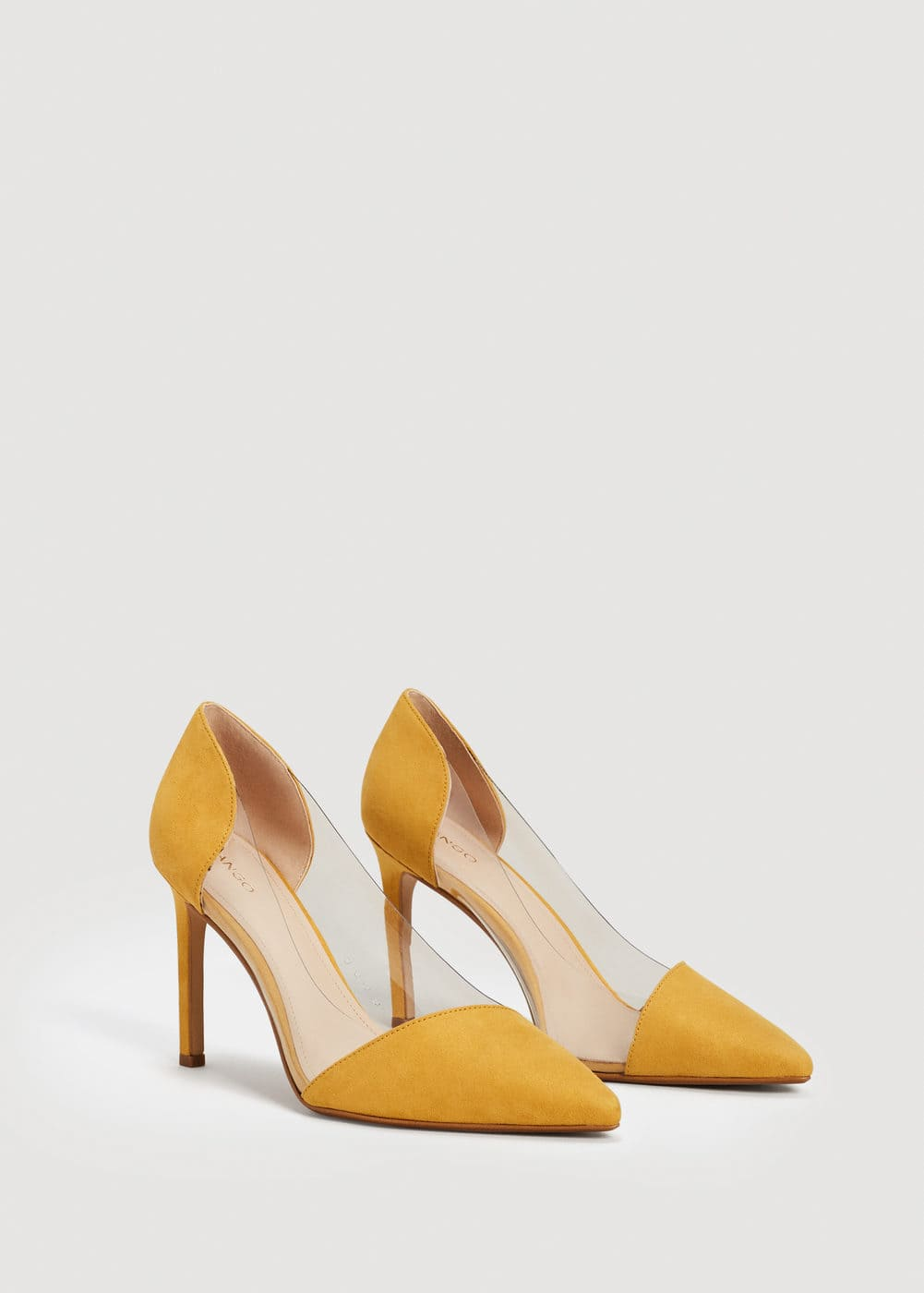 See-through panels stilettos | MANGO
