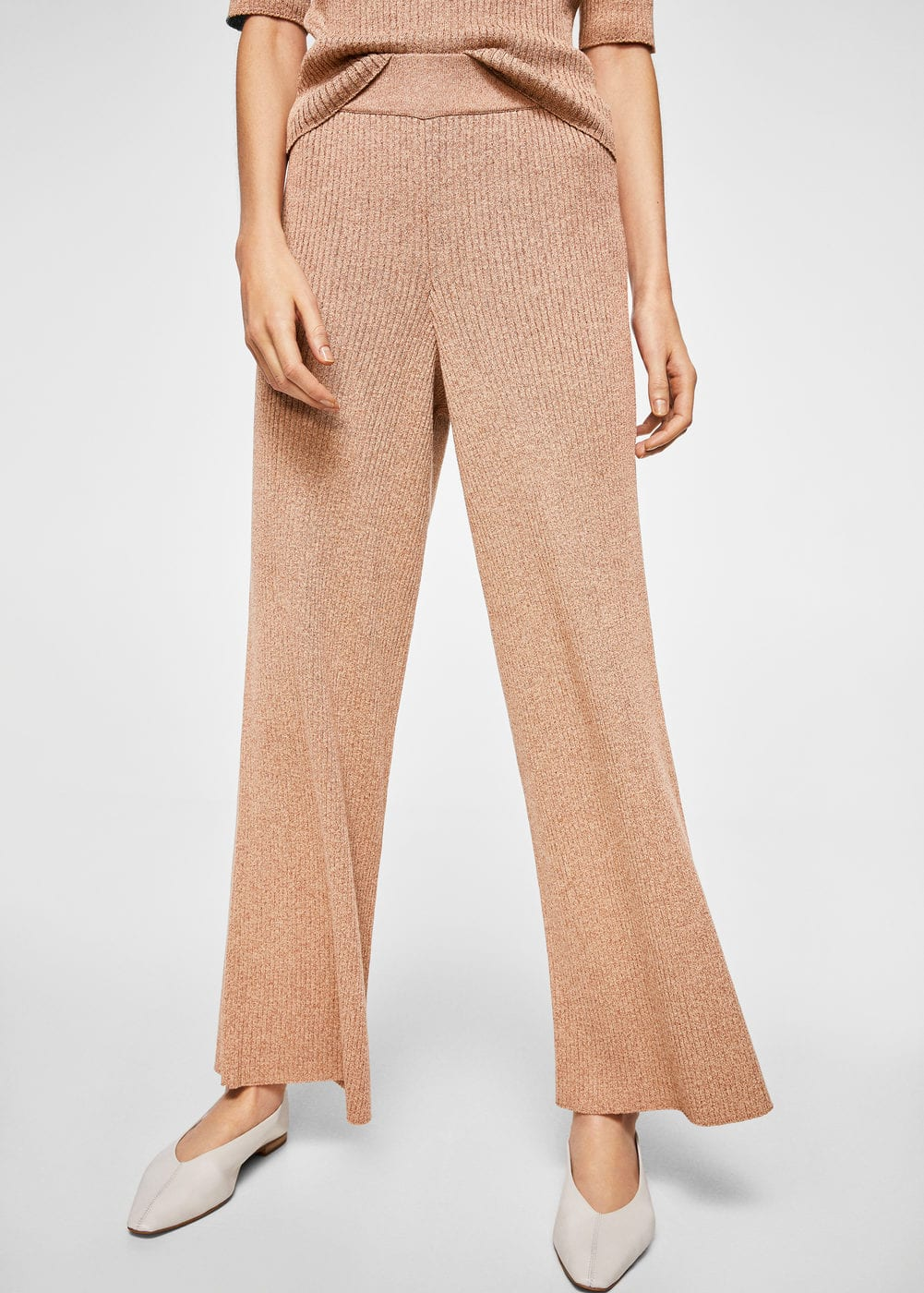 Ribbed trousers | MANGO