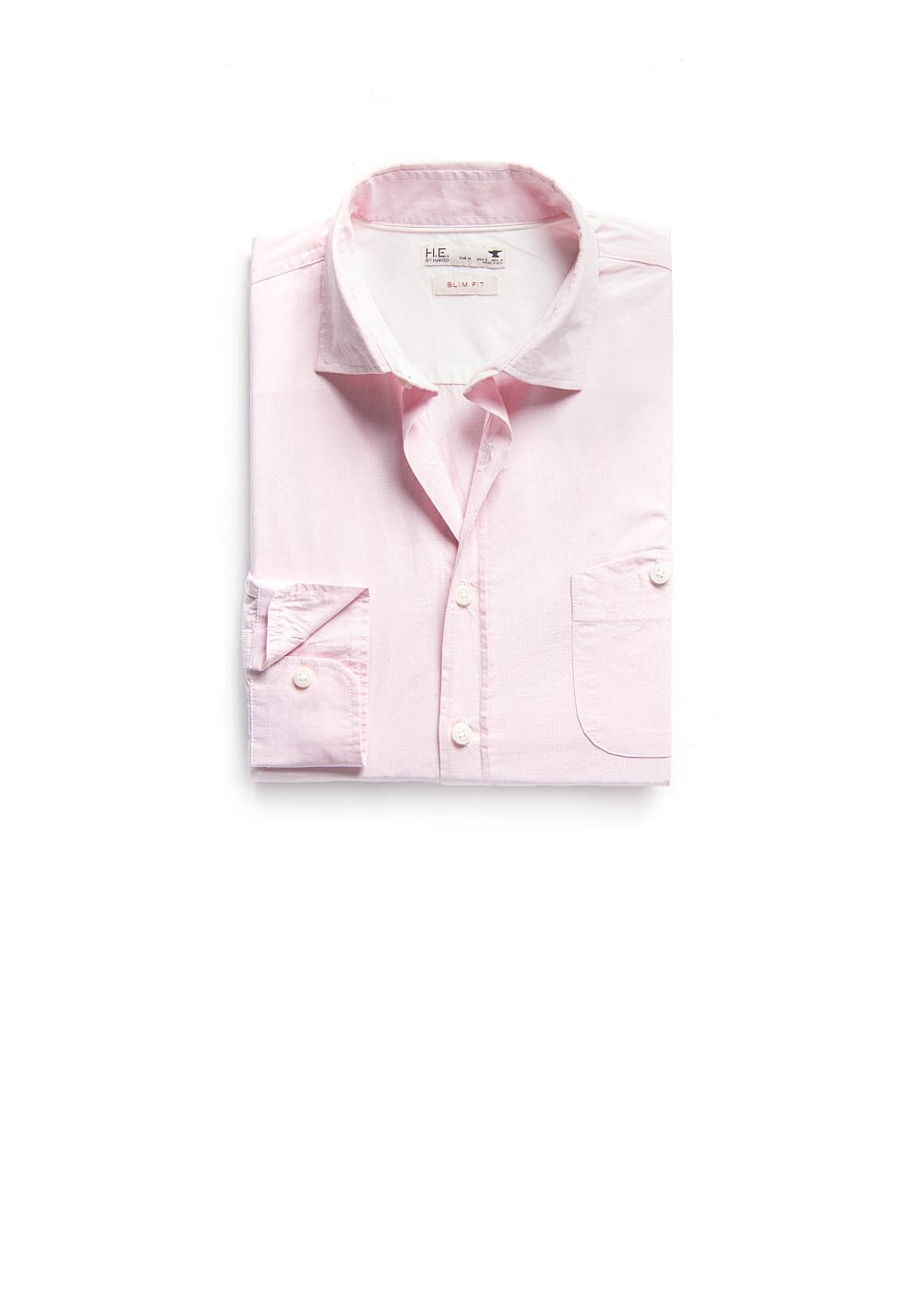 Slim-fit micro check shirt | MANGO MAN
