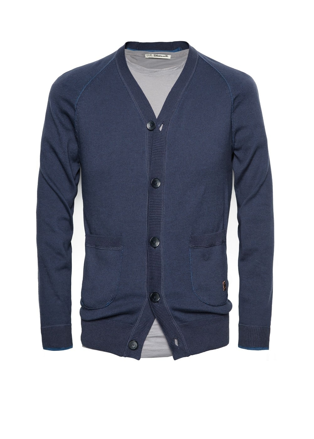Two-pocket cotton cardigan | MANGO MAN