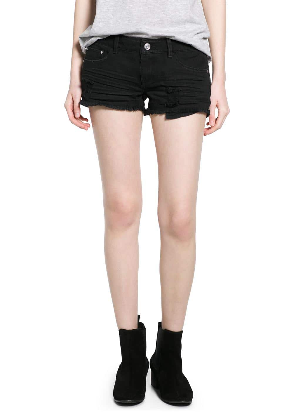Short denim negro | MANGO