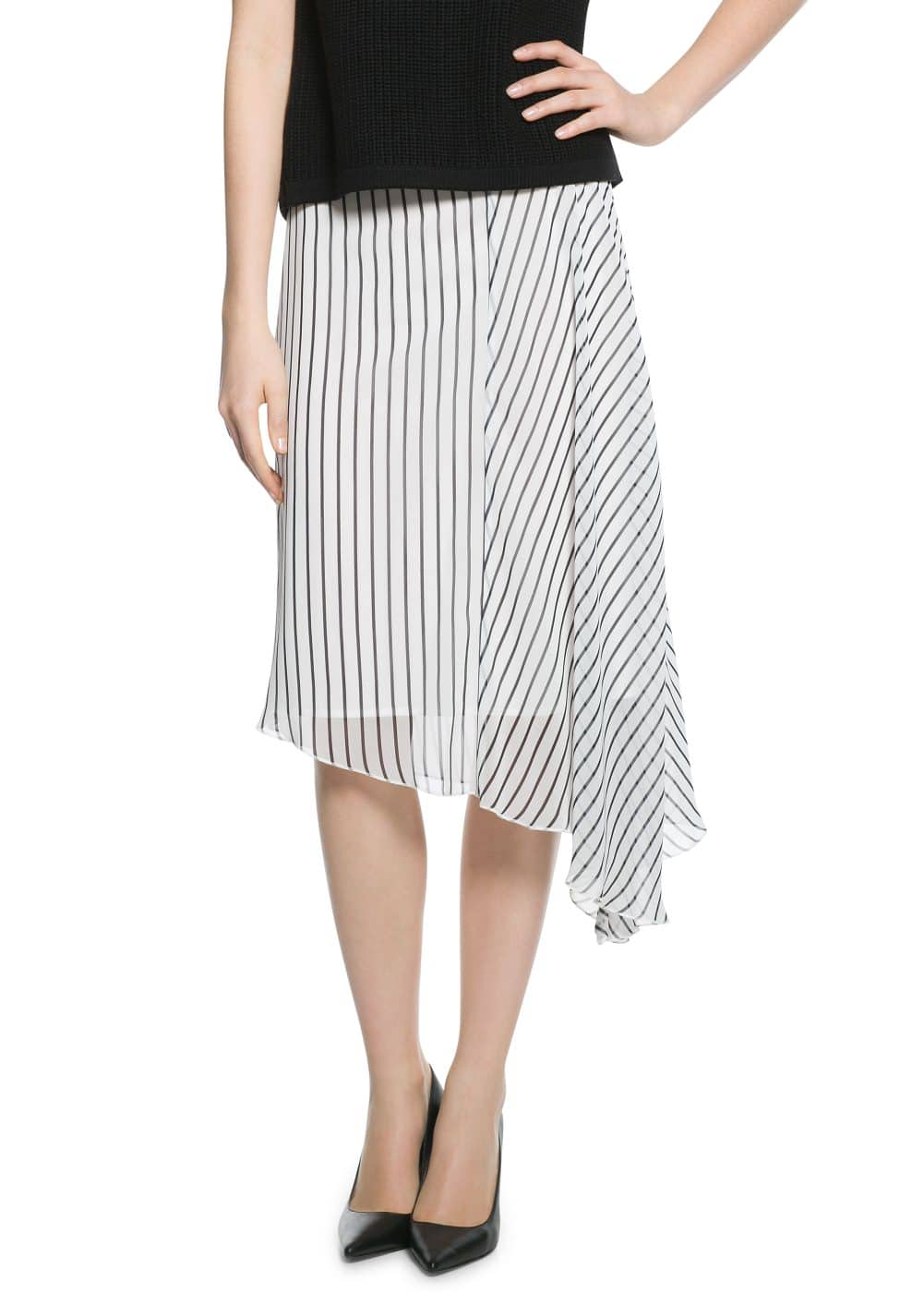 Striped midi skirt | MANGO
