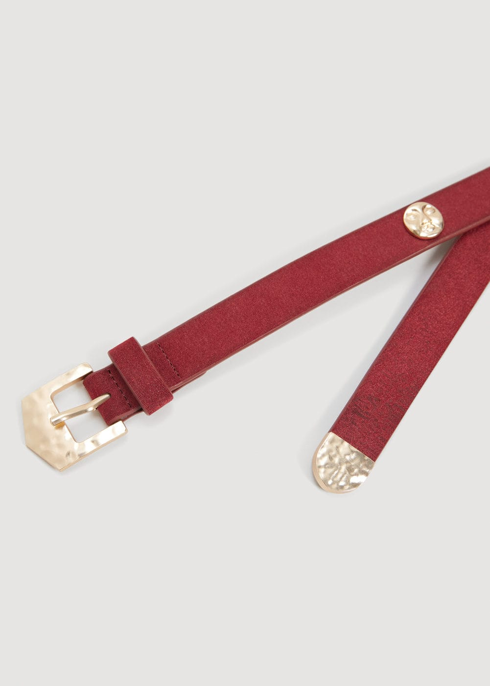 Metal appliqué belt | MANGO