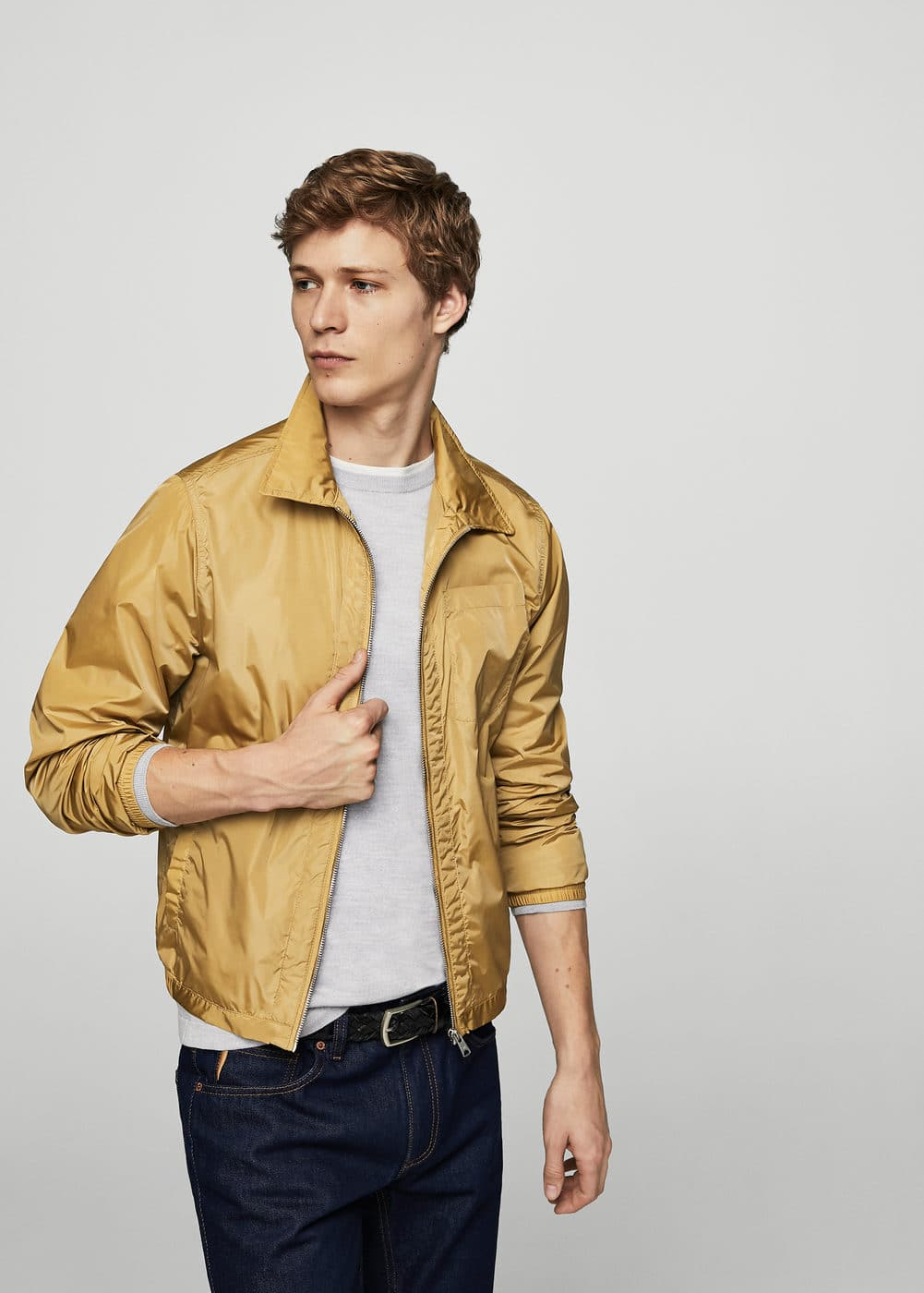 Light nylon jacket | MANGO MAN