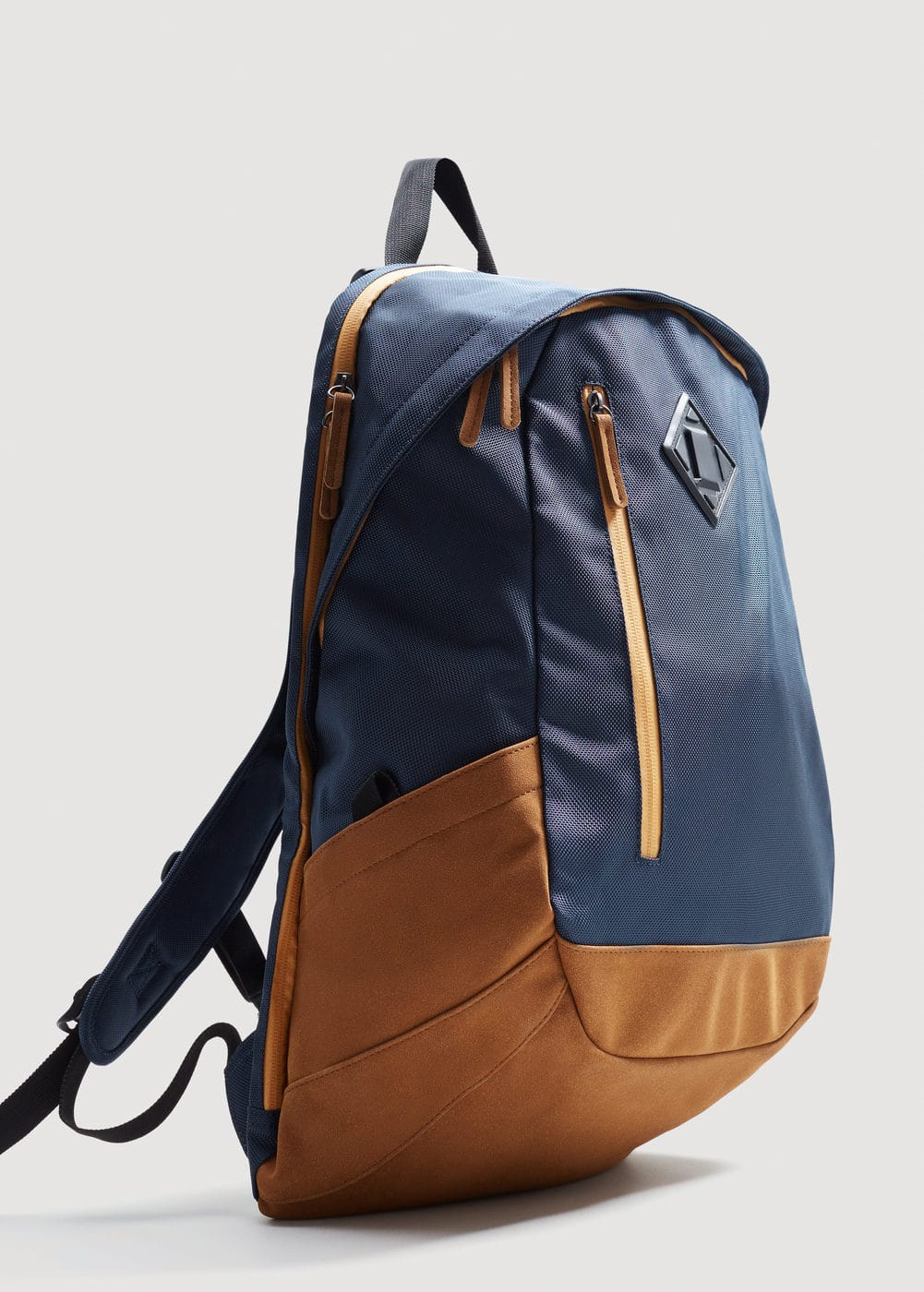 Contrast canvas backpack | MANGO MAN