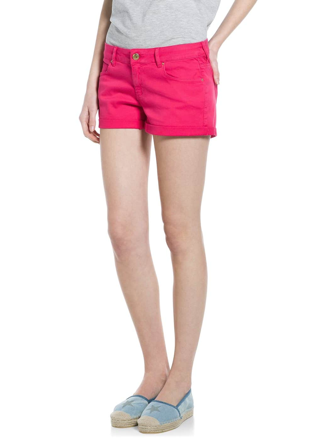 Rolled-up hem shorts | MANGO MAN
