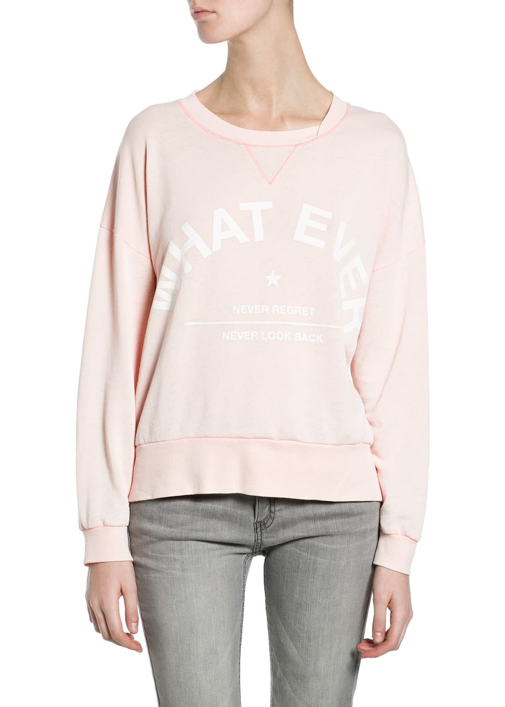 Whatever lightweight sweatshirt | MANGO