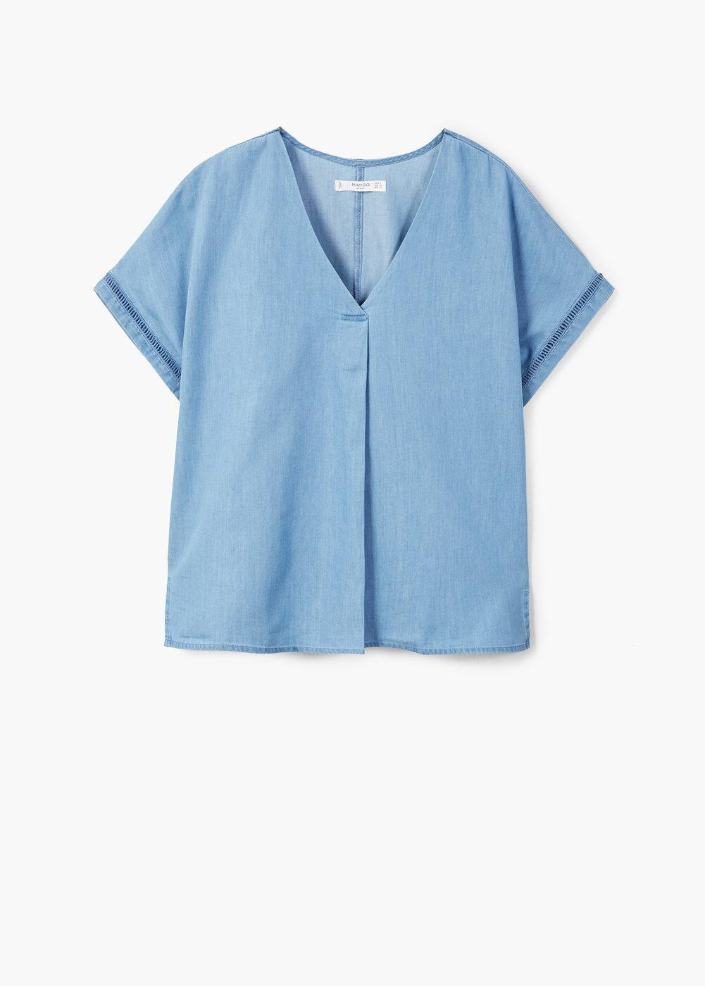 Denim blouse | MANGO