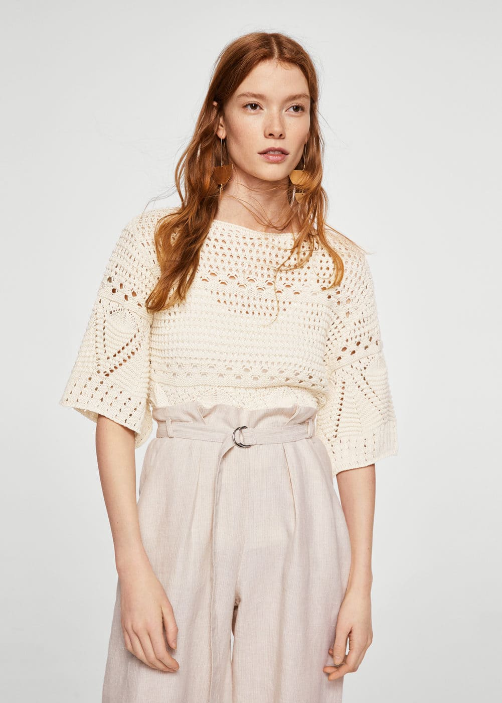 Openwork panel sweater | MANGO