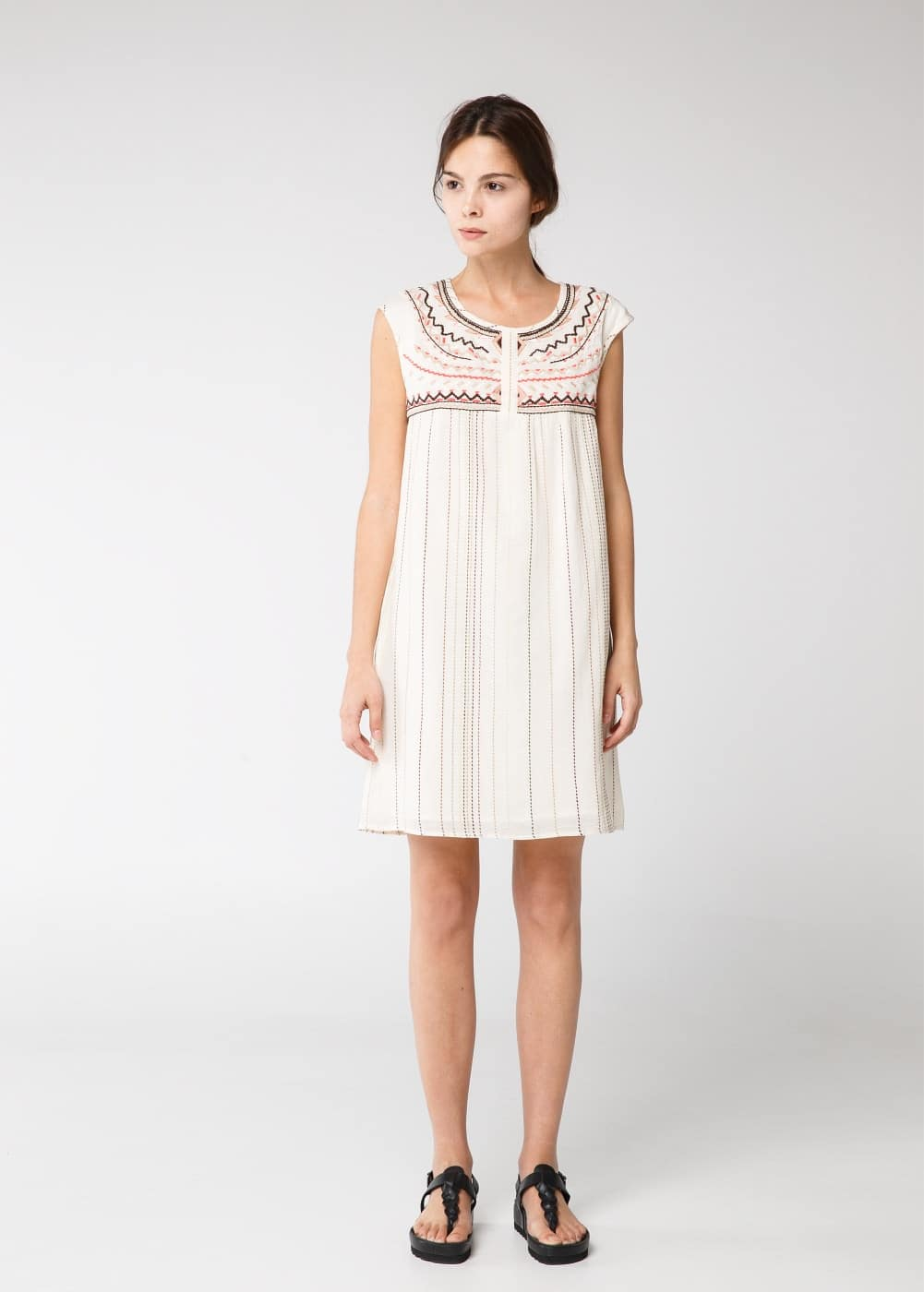 Ethnic embroidered dress | MANGO