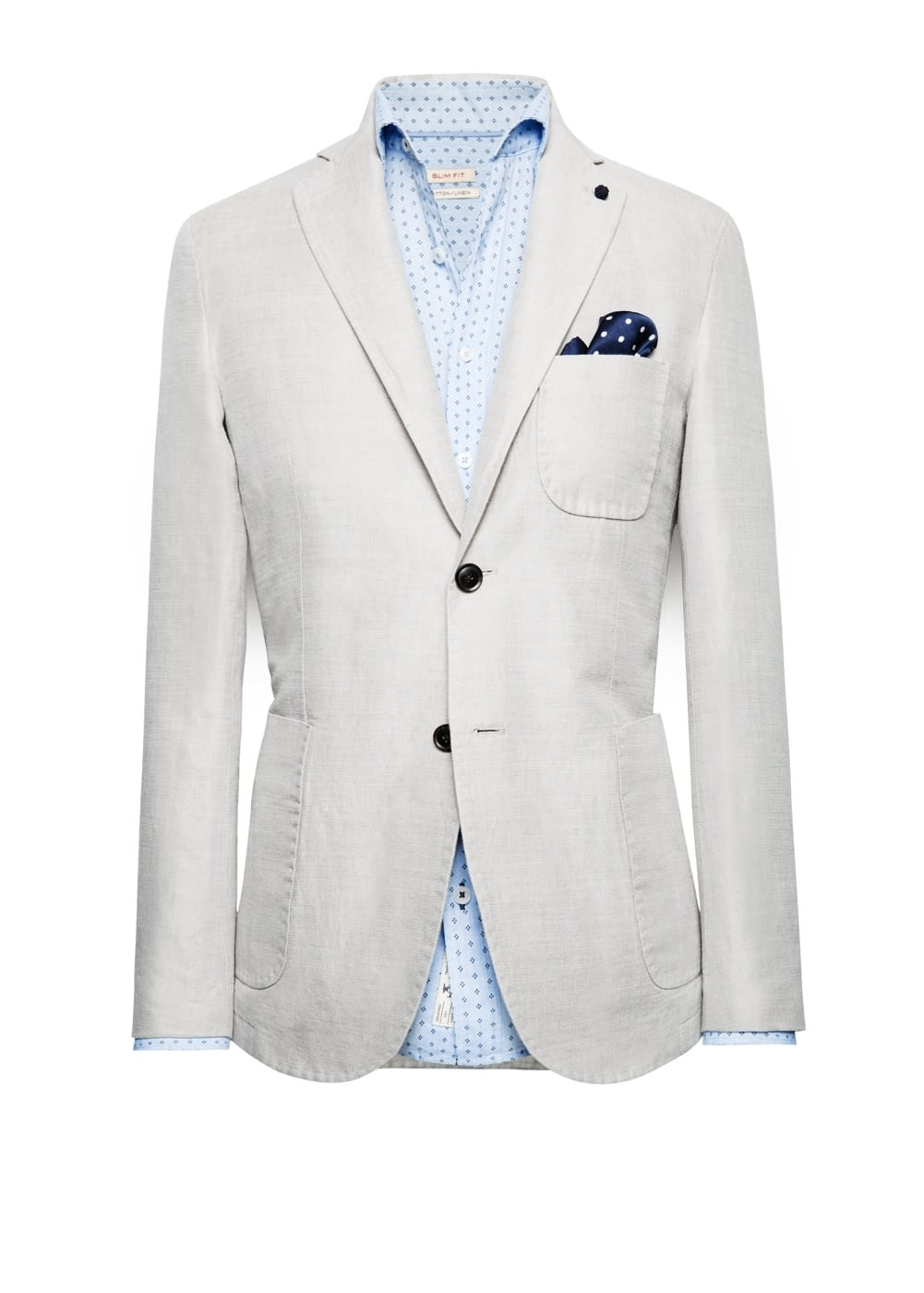Textured cotton-blend blazer | MANGO