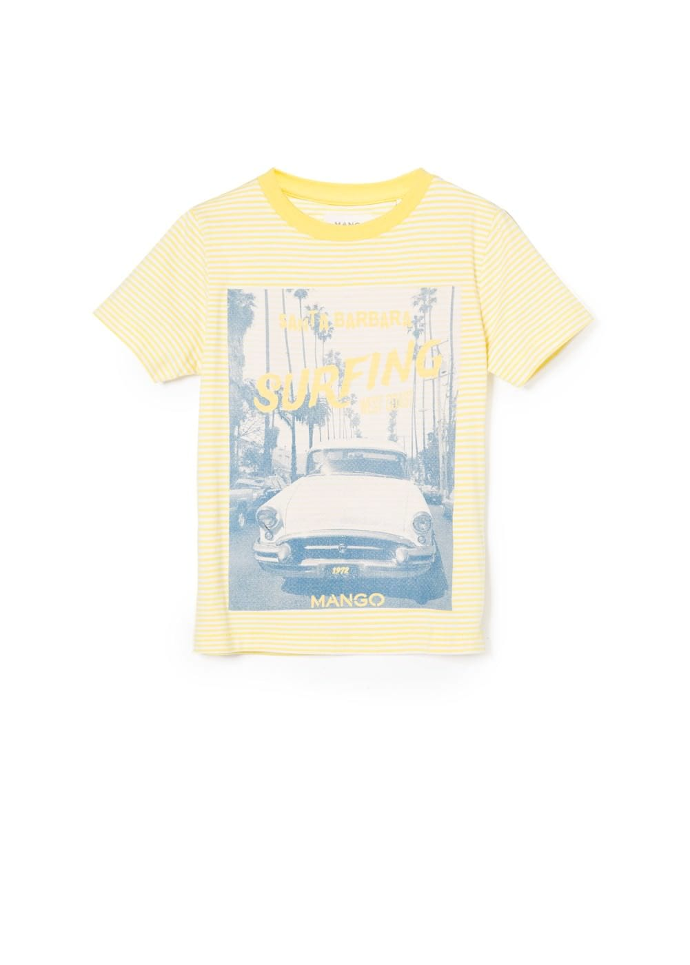 Surfing striped t-shirt | MANGO