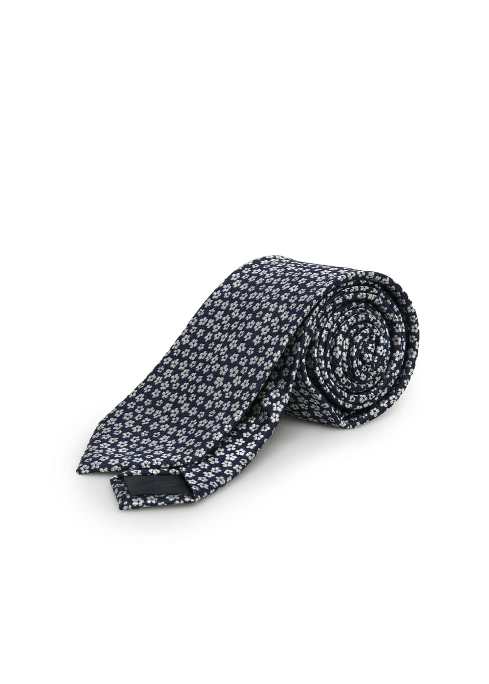 Flower-embroidered tie | MANGO
