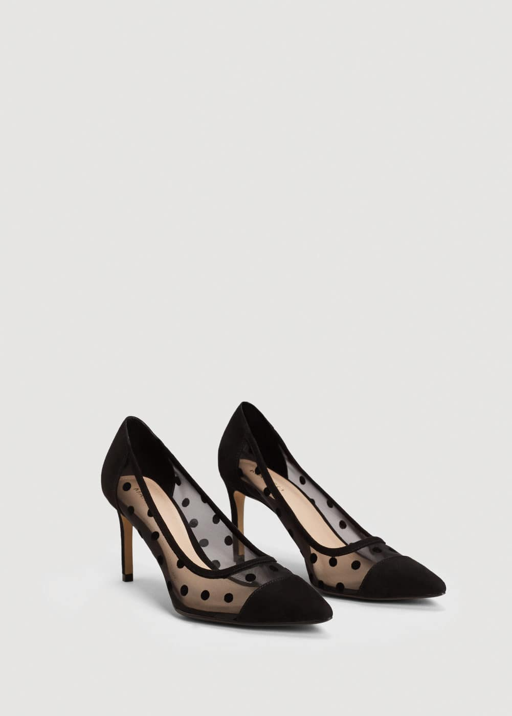 Plumeti stiletto shoes | MANGO