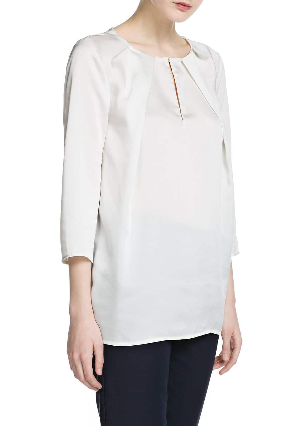 Pleated blouse | MANGO MAN
