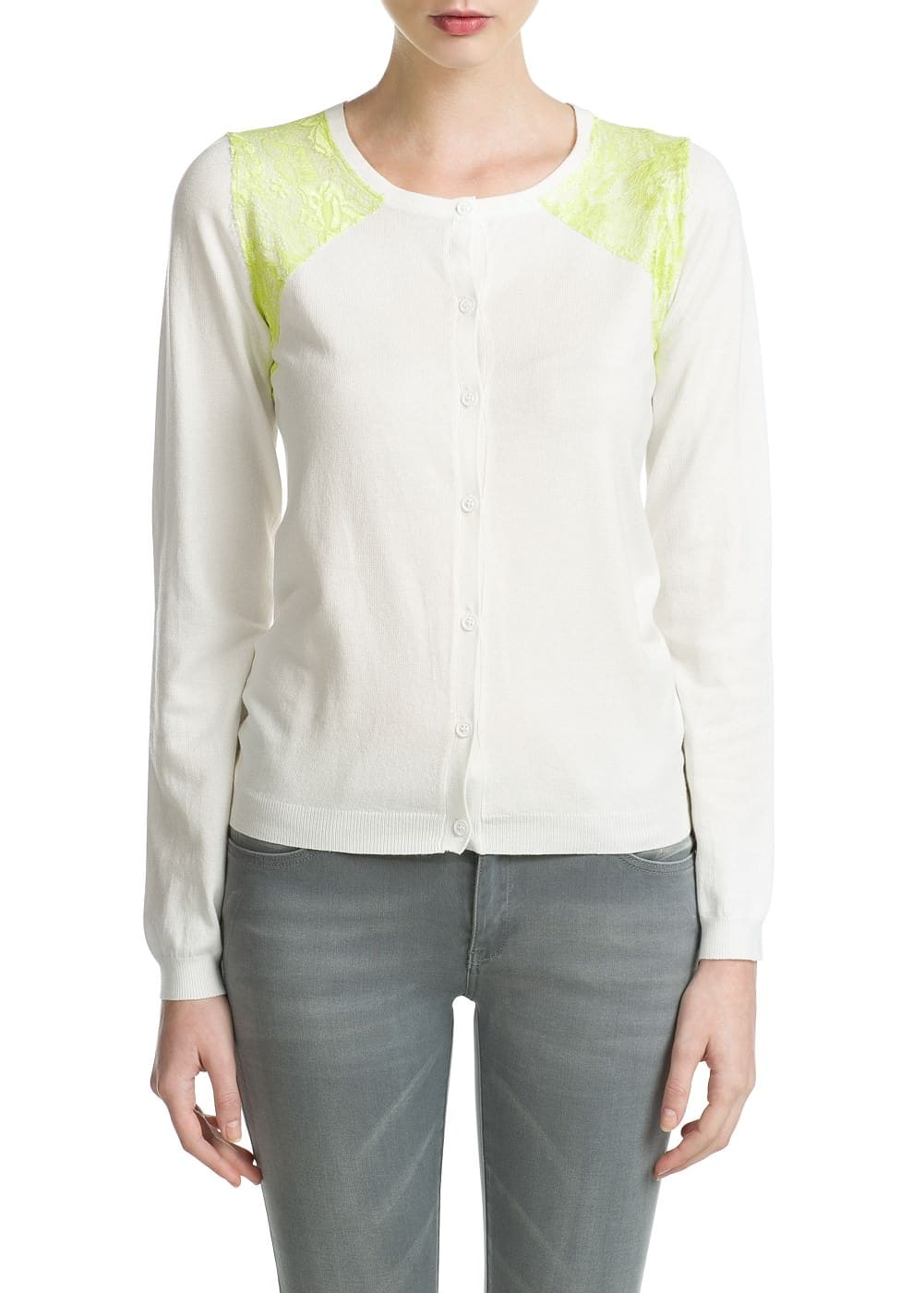 Blond lace cardigan | MANGO