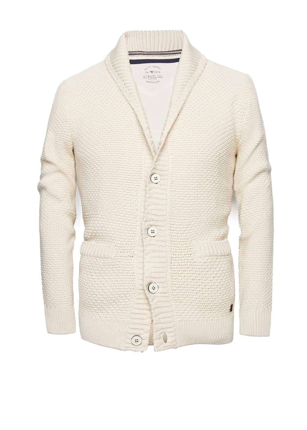 Textured knit cotton cardigan | MANGO