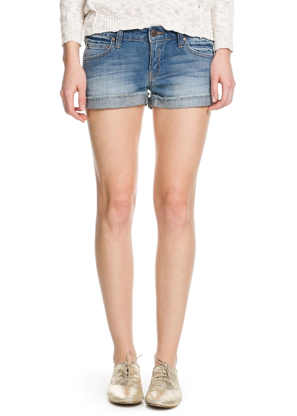 Light denim shorts | MANGO