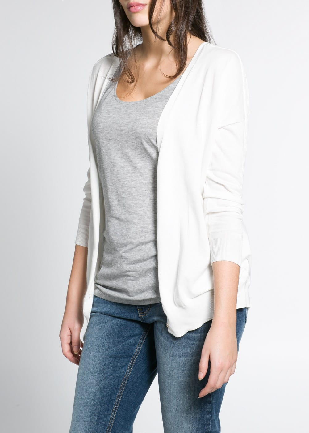 Cotton openwork cardigan | MANGO