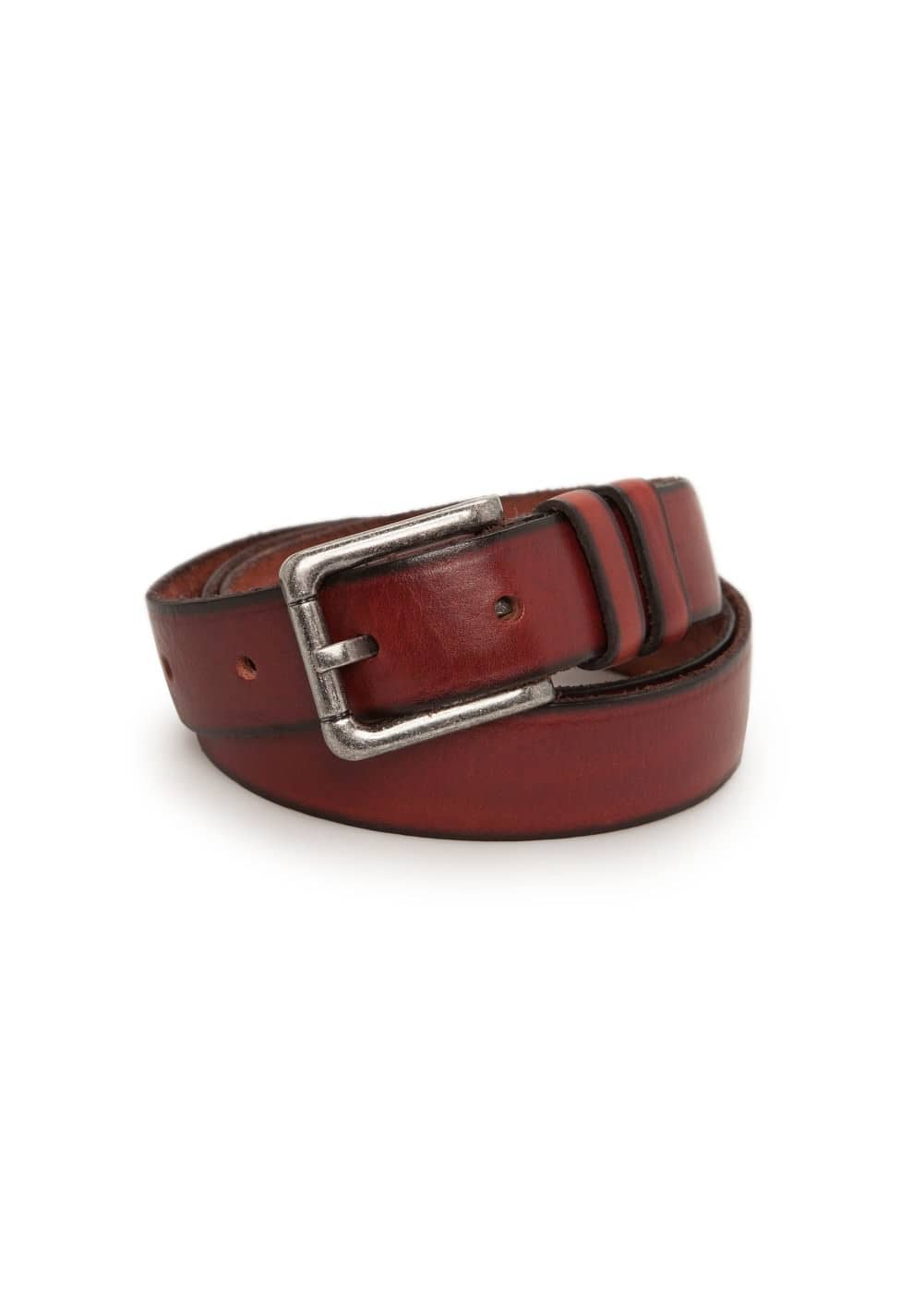 Vintage leather belt | MANGO