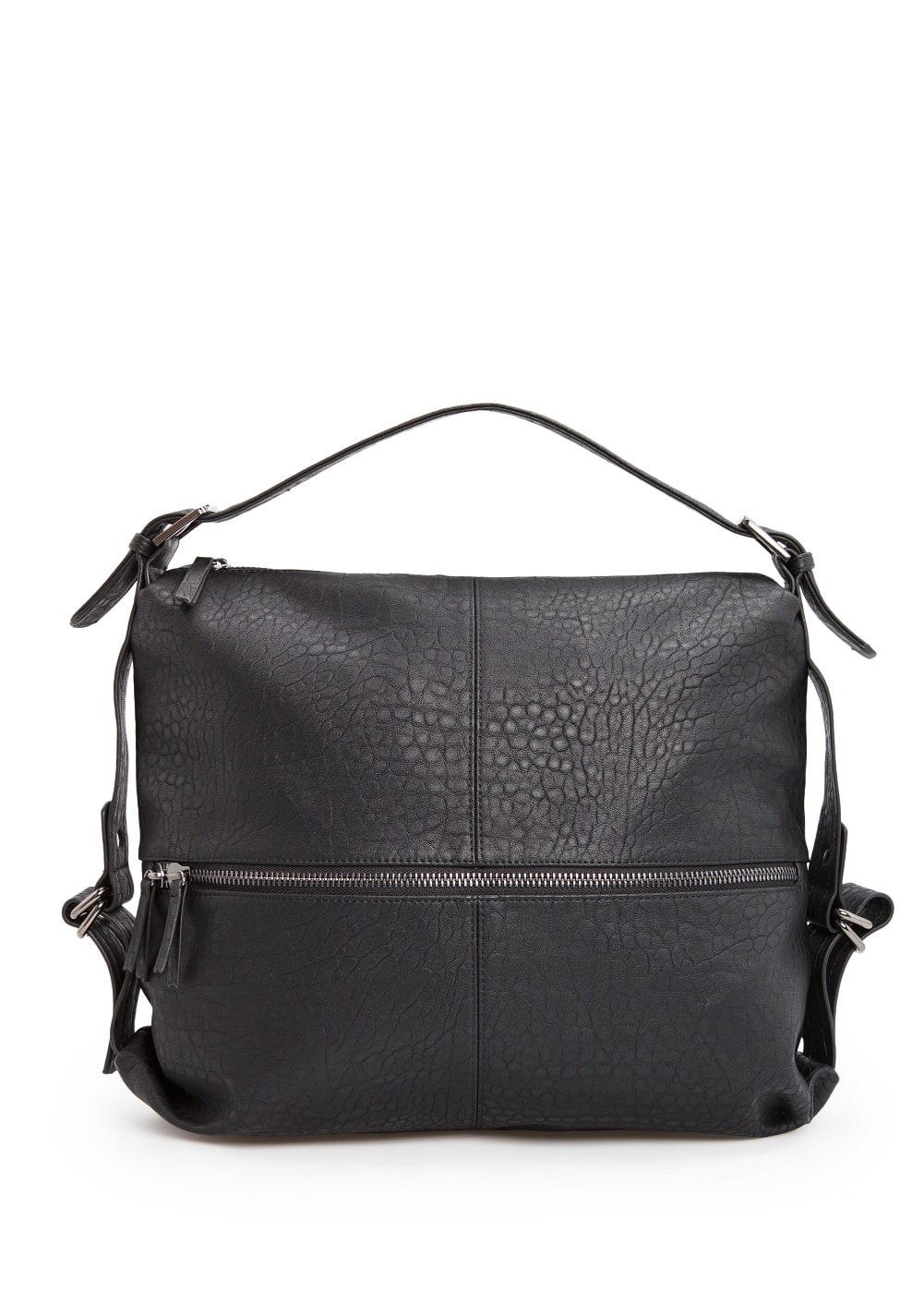 Zip pocket hobo bag | MANGO