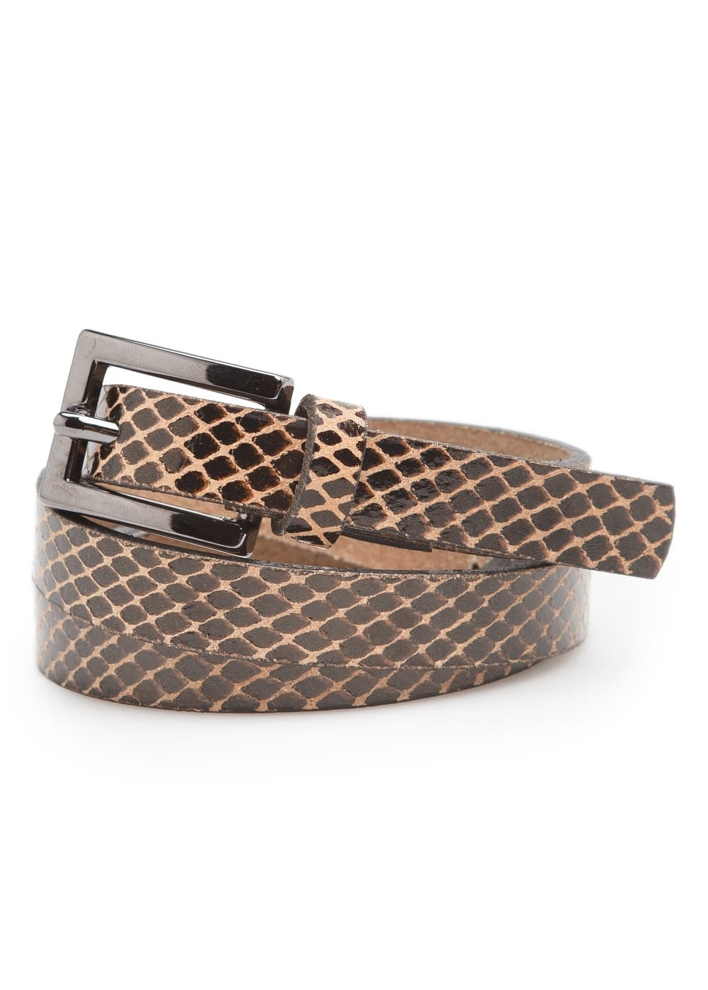 Snake leather belt | MANGO